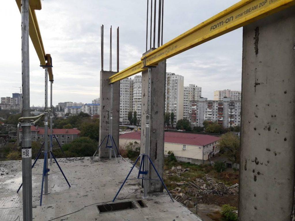 ЖК Континент | ЖК Континент | Монтаж вертикальных конструкций 7-го этажа секции 1