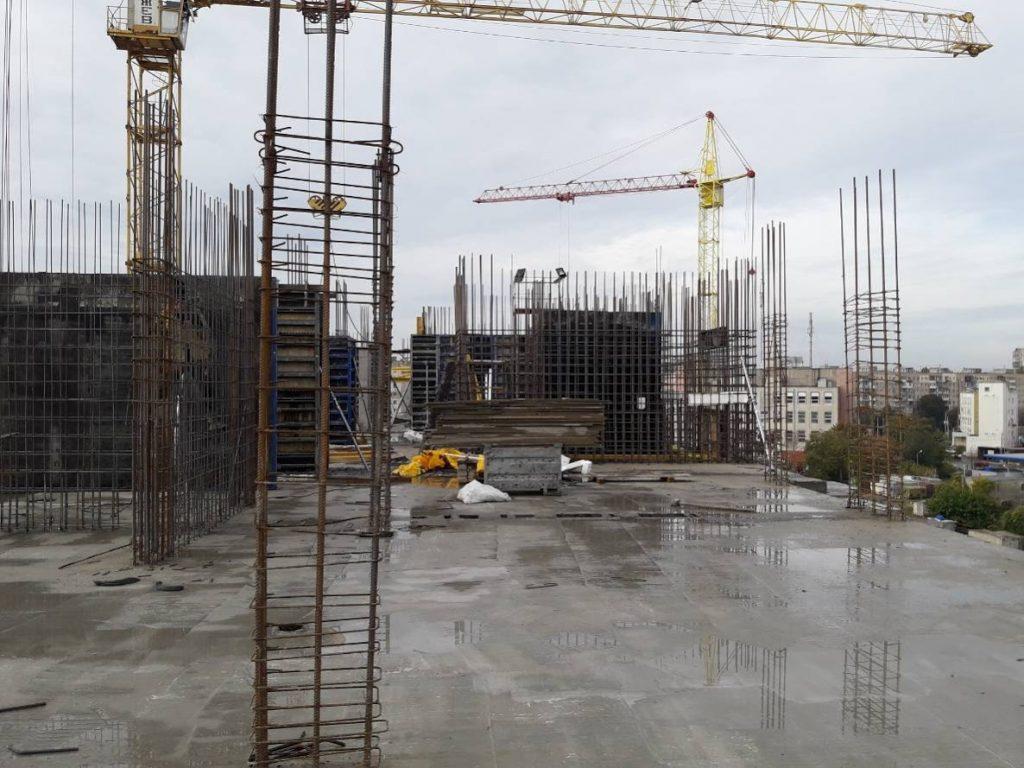 ЖК Континент | Монтаж вертикальных конструкций 7-го этажа секции 1
