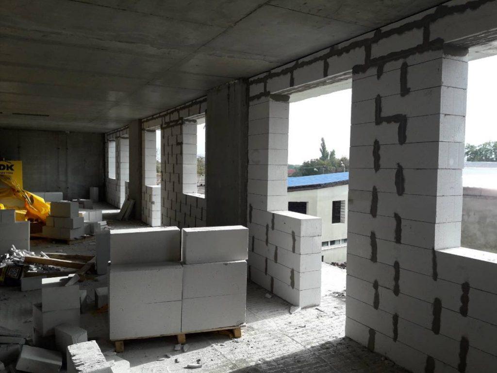 ЖК Континент | ЖК Континент | Монтаж вертикальных конструкций 4-го этажа секции 1