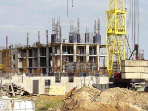 ЖК Континент | Монтаж вертикальных конструкций 4-го этажа секции 1