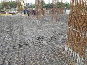 ЖК Континент | Армирование плиты перекрытия над 3-м этажом