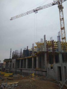 ЖК Континент | Монтаж вертикальных конструкций 2-го этажа