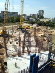 ЖК Континент | Монтаж вертикальных конструкций подвала