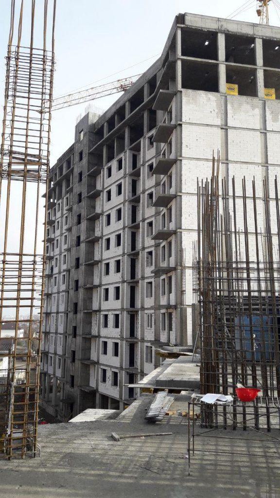 Секция 2: начали монтаж перекрытия над 4 этажом