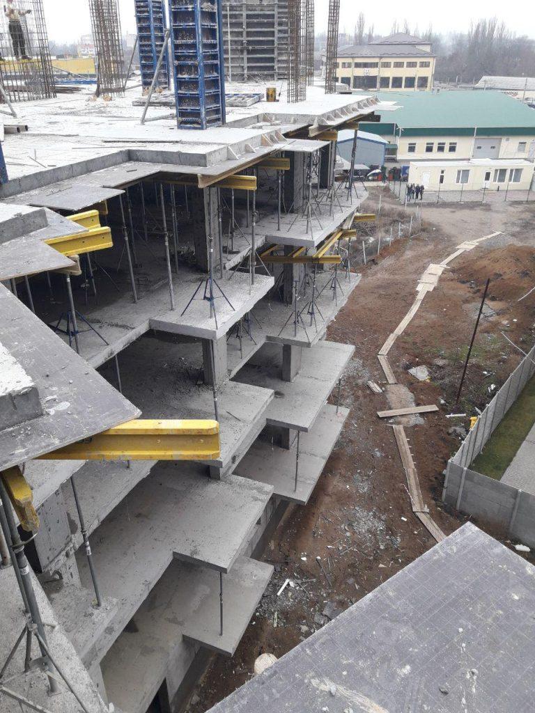 Заливка пятого этажа 2-й секции